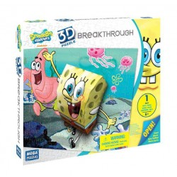 Puzzle 3D Breakthrough Bob & Patrick (100 pièces)