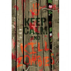 Poster Keep Calm Zombie
