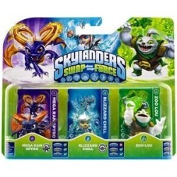 Skylanders Swap Force - Triple Pack B [Mega Ram Spyro + Blizzard Chill + Zoo Lou]
