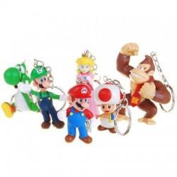Set 6 Portes clefs Mario Team