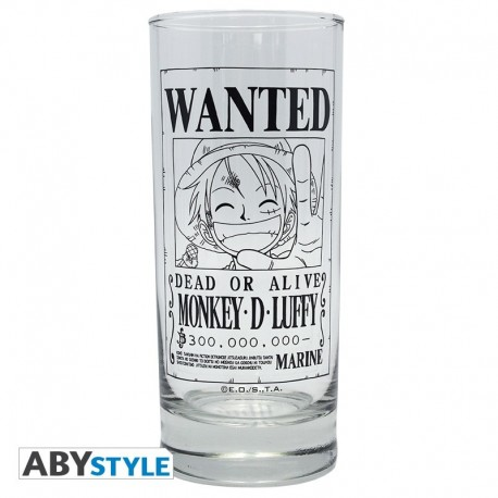 Verre Wanted Luffy 29 cl