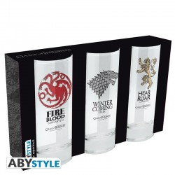 Set de 3 verres Game of Thrones 29cl