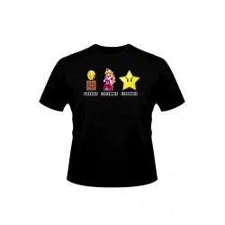 T-shirt Parodie Super Mario : argent, femmes et pouvoir