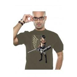 T shirt : attaque des titans Eren snap