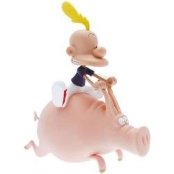 Tirelire Titeuf sur un cochon