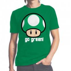 T-shirt Nintendo : Go green