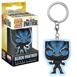 Pocket FUNKO POP Porte Clefs : Black Panther Phosphorescent
