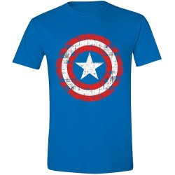 T-SHIRT Captain America Cracked Shield