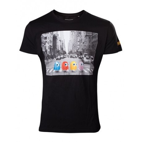 T-SHIRT Pac Man Crossing Road