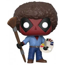 Figurine FUNKO POP MARVEL : Deadpool as Bob Ross