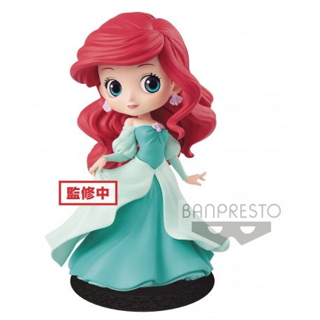 Q Posket Ariel Princess Dress Robe Verte