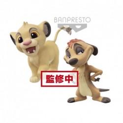 Disney Fluffy Puffy - Le Roi Lion - (B:SIMBA & TIMON)