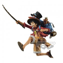 One Piece Three Brothers Figure Monkey.D.Luffy