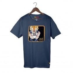 T-Shirt Dragon Ball Z Majin Vegeta Bleu Marine Capslab
