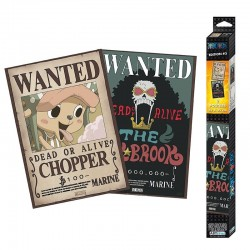 Set de 2 Poster One Piece - Wanted Brook And Chopper