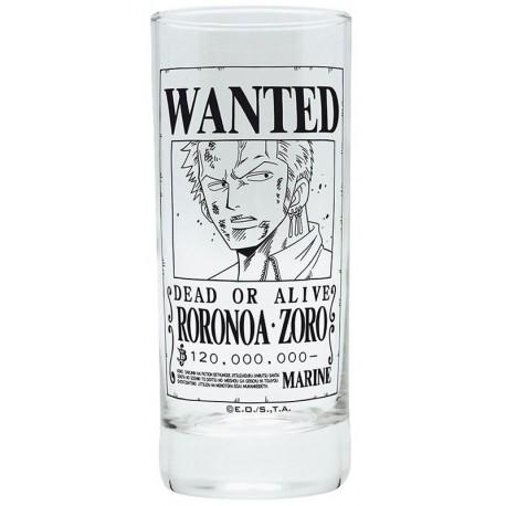 Verre One Piece - Wanted Zoro