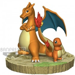 Figurine Pokemon - Dracaufeu & Salameche