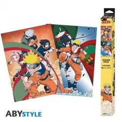 Set 2 Posters - Naruto Equipe 7 (52x38)