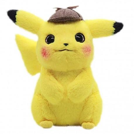 Peluche Détective Pikachu + Brosse