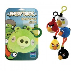 ANGRY BIRDS - Peluches clip Rouge